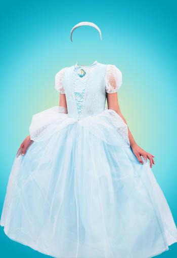 Женский шаблон для фотошопа - в бирюзовом платье
